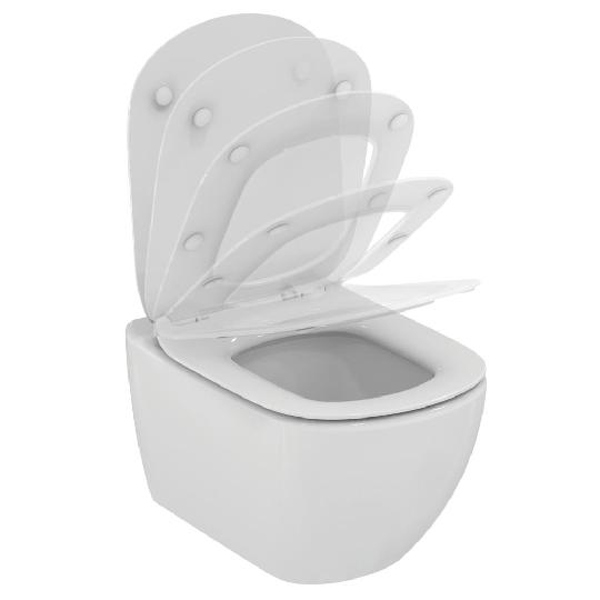 Окачена тоалетна чиния TESI, с AQUABLADE технология