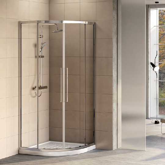 Ъглова душ кабина KUBO R, 100x100 см