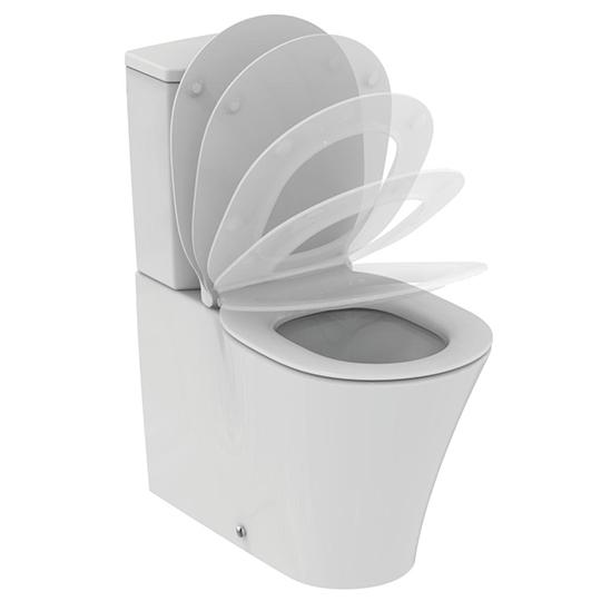 Стояща тоалетна чиния CONNECT AIR, с AQUABLADE технология, в комплект с казанче и седалка